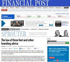 Andrea Lown quoted in Financial Post